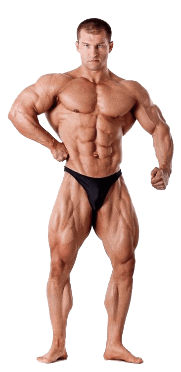Bodybuilder user of anabolic steroids